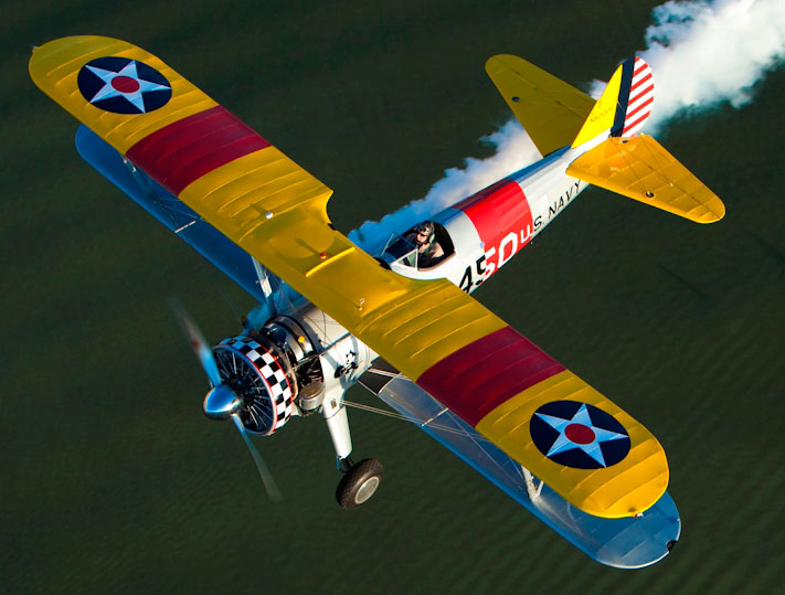 Stearman Flying